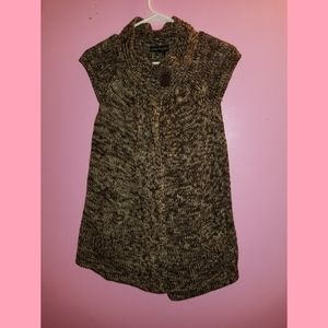 Short Sleeve Brown Sweater